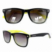 China Sunglasses in Various Colors and Sizes, Made of Acetate, with Fashionable Design