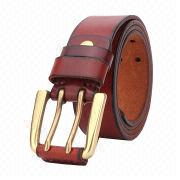 Men's leisure top layer genuine leather belt from China (mainland)