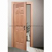 Molded veneered wooden door set from Taiwan