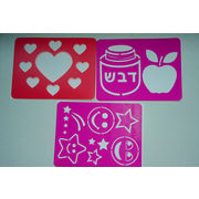 China Eco-friendly PP plastic wall drawing stencils and templates for children