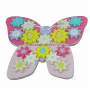 2014 new colorful wooden green children's butterf Manufacturer