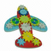 2014 new colorful wooden green children's airplane gear toys from China (mainland)
