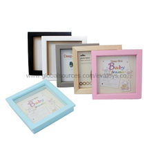 Colorful nice wooden picture photo frame, measures 19.5*19.5*3.5cm, EN 71 certified