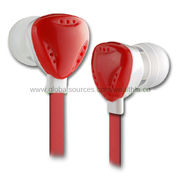 Flat Cable Earphones, Suitable for CD, iPod, MP3, MP4, DAB Radio and All Kinds of Music Player from Wealthland (Audio) Limited