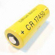 Hong Kong SAR CR17450 - Batería cilíndrica del dióxido del manganeso con la corriente de 3,000mA, para el coche teledirigido