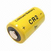 Hong Kong SAR CR2 - batería cilíndrica del litio 3V con la capacidad nominal 750mAh, para el sistema de alarma para coches