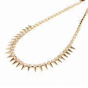 CZ Diamond Jewelry Gold Rivets Necklace from China (mainland)