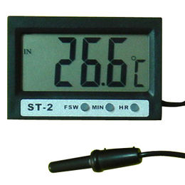 China Digital In-out Thermometer with Extra Big LCD and Clock Display