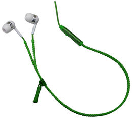 Zipper Wired Earphones, Built-in Handsfree Microphone, for iPhone/Smartphone/Tablet from UPO Technical Products Ltd
