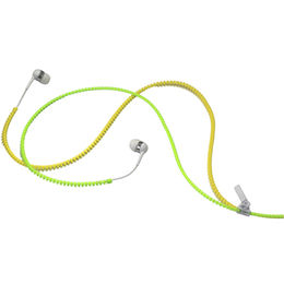 Fashionable Double Color Cable Zipper Earphone, Available in New Customized Cable Color Combination from UPO Technical Products Ltd