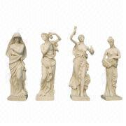 Hand Carved Large Outdoor Nice Nude Female Yellow Stone Four Seasons Statue Manufacturer