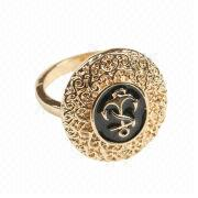 Most Popular Gold-plated Zinc-alloy Ring from China (mainland)