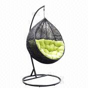 Patio Outdoor Furniture Garden Rattan Egg Hanging Swing Chair from China (mainland)