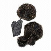 Women's Hat, Scarf and Glove Fur Set from Hong Kong SAR