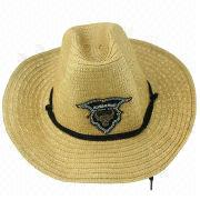 Men's hat, made of straw, comes in different colors, OEM orders are welcome