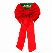 Velvet ribbon Christmas topper bow from China (mainland)