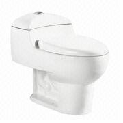 Siphonic one-piece wall-hung water closet from China (mainland)