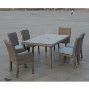 American style outdoor furniture dining table and chairs from China (mainland)