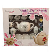 Paint-your-own Ceramic DIY Tea Party Set with Water Color Painting
