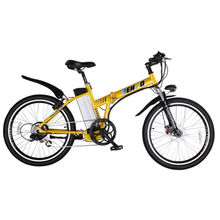 Electric bike with foldable aluminum frame