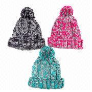Acrylic Knitted Women's Hat from China (mainland)