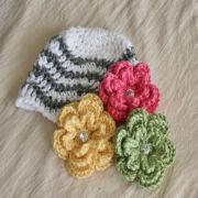 4b0b72d2093 China Fashion Baby Clothing Chevron Flowers Baby Hat Baby Knitted Flower Hat