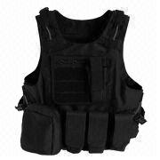 Black Military Gear Molle Paintball Combat Soft Safety Tactical Vest from China (mainland)