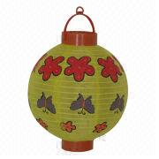 8-inch Four Colors Printed Chinese Handmade Battery Nylon LED Battery Lanterns from China (mainland)