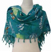 Cotton spring printed shawl from China (mainland)