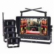 9-inch Digital Wireless DVR Quad Monitor Camera System Manufacturer