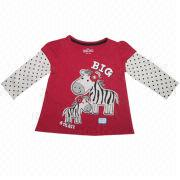 Girls' Long-sleeved T-shirt from China (mainland)