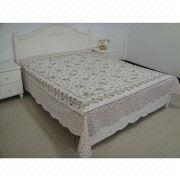 Cotton washed quilted bedspread from China (mainland)