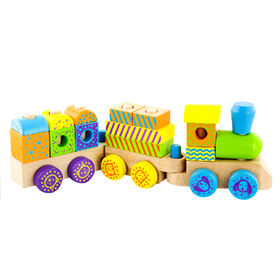 2014 new popular hot sale wooden toy train Manufacturer