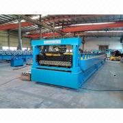 Corrugated sheet metal tile forming machine from China (mainland)