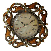 Small Enameled and Jeweled Desk Metal Clock Manufacturer