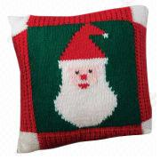 Hot Christmas Deer Jacquard Knitted Cushion Cover from China (mainland)