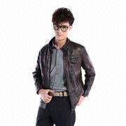 2014 brand name fashion men's winter PU jacket from China (mainland)