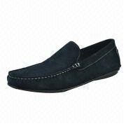 Men's Casual Shoes, Made of Very Soft Cow Suede Material