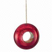 """6"""" ruby mercury glass bird feeder from China (mainland)"""