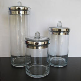 S3 Clear Textured Glass Apothecary Straight Type from China (mainland)