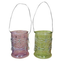 Wire lantern glass candle holders from China (mainland)