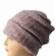 Ladies' winter wool knitting fabric long hat from China (mainland)