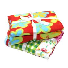 Solid and Printed Polar Fleece Blanket in Various Colors, Designs and Sizes, Warm and Soft