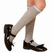 Cotton children's fashion knee-high socks from China (mainland)