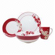 Fine Porcelain 16pcs Dinner Set Manufacturer