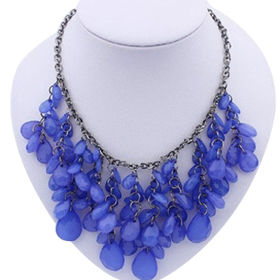 Teardrop Shaped Acrylic Chain Necklace from China (mainland)