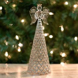 Silver Skirt Textured Mercury Glass Angel crafts Manufacturer
