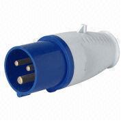China Industrial Plug, 200-250V, 16A-6H, 2P+E, IP44