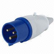 China 32A/6h plug, 200-250V, 2P+E, IP44, CE Certified