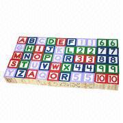 2014 new and popular wooden alphabet block set toys Manufacturer